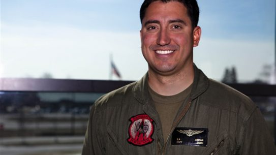 Marine Corps Capt. Brian Jordan was awarded with the British Distinguished Flying Cross, only the second time a Marine has received the honor since WW II.