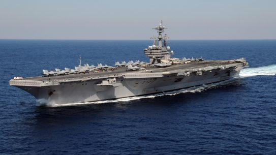 USS George H.W. Bush, the flagship of Carrier Strike Group Two