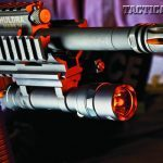 Huldra equips the 16-inch, 1-in-7-inch-twist barrel, made from chrome-moly-vanadium steel, with an A2-style birdcage flash suppressor.