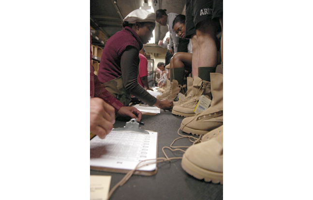 American-made, military footwear could soon be a reality. The Department of Defense is currently conducting market research into the idea.