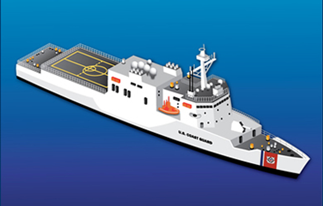 A conceptual rendering of the Offshore Patrol Cutter (OPC)