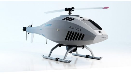 Design of the Airbus Tanan Block 2 is based on the APID 60 VTOL UAV System from CybAero, pictured here.