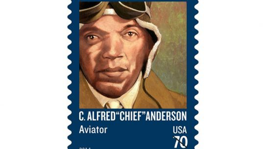 """Tuskegee Airman C. Alfred """"Chief"""" Anderson is set to be honored with a United States Postal Service stamp."""