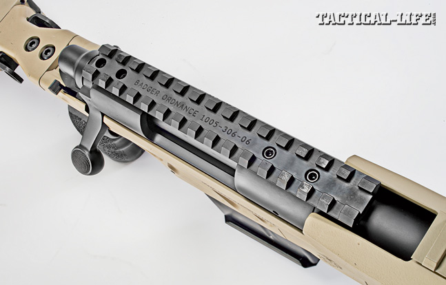 By mating a railed, free-floating handguard with a rail on top of the action, you can mount any combination of sighting systems on the AM40A6. There is plenty of room for installing night vision in front of a scope.
