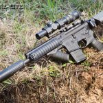 """The author's favorite truck gun, an AAC MPW upper on a Bravo Company lower, served equally well as a """"chopper cropper"""" when called into service to eradicate feral Texas hogs bent on decimating local crops. The rig's Trijicon 1-4x24 AccuPoint scope was quick to get on target."""