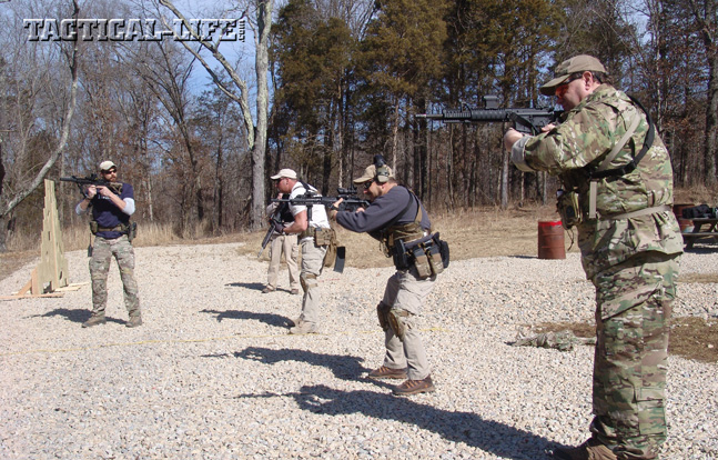 Carbine III class started with fundamentals and ended with shooting as a team