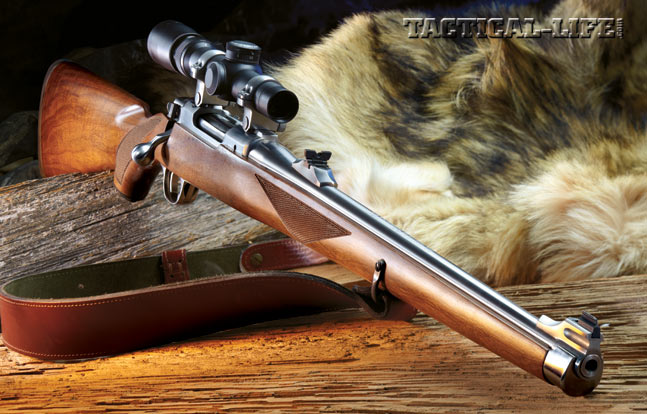Ruger's M77 RSI (International), with its Mannlicher-style walnut stock, is one of the best-looking bolt-action rifles of all time. With just a little work and a few enhancements, it can shoot great, too. Shown equipped with a Leupold 1.5-5x20 VX-3 riflescope.