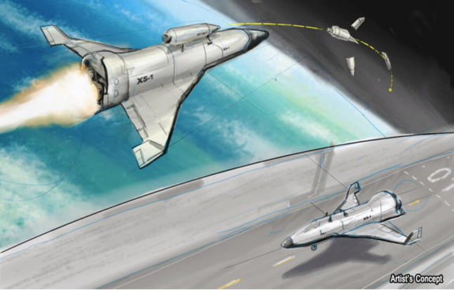 An artist's concept of the XS-1 Space Plane by DARPA