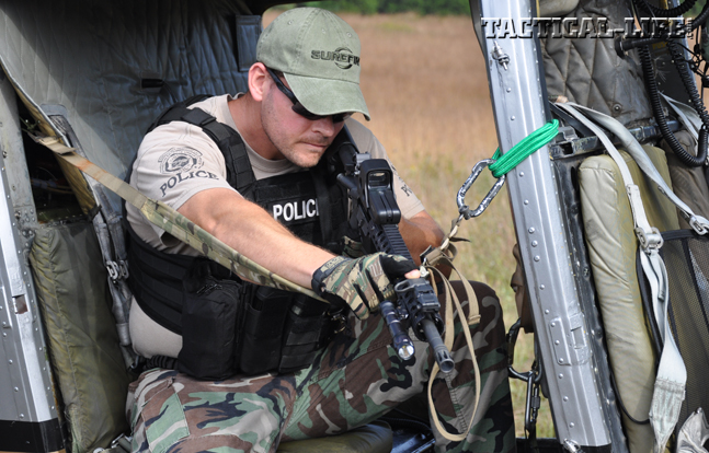 Students used M4-type carbines, holographic or red-dot sights, and VTAC slings and bungee cords for greater stability while firing.
