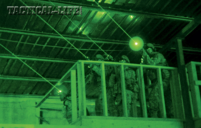 Team operations especially benefit from lasers, as they immediately, non-verbally communicate the location of targets and de-conflict fire from other teammates.