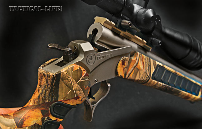 Thompson/Center's Predator is a truly ambidextrous single-shot with a hammer spur that can be positioned for right- or left- handed shooters.