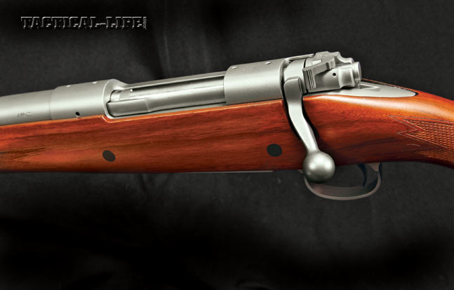 The folks at Montana Rifle Company equip the AVR-SS with their own version of the pre-64/Mauser controlled-round-feed bolt action. The test sample, in .375 Ruger, featured a high-quality American walnut stock and a matte stainless steel action.
