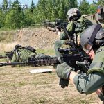 """The Alaska State Trooper SERT """"Summer School"""" provides a chance for the entire team to practice, compete and realistically train together on fundamentals such as performing dynamic entries, gas deployment and tactical firearms skills."""