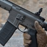 controls are in standard AR locations that are easy to reach, including the safety. The lower also features a crisp Geissele Automatics Super Semi-Automatic (SSA) two-stage trigger within an ehanced Magpul MOE triggerguard.