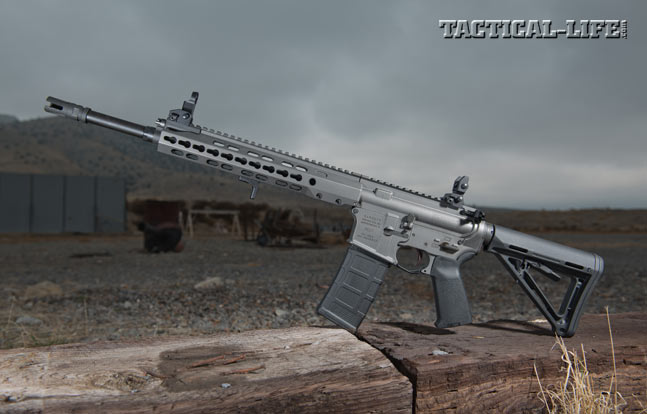 The REC7 Gen II feautres a slim, octagonal KeyMod handguard as well as a PWS Triad flash suppressor, Magpul's MOE stock and pistol grip, and much more.