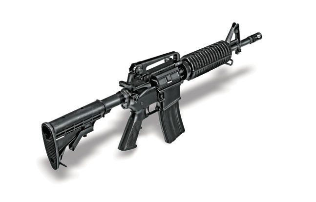 The 11.5-inch-barreled DPMS carbine used by the BPD ERT does not sacrifice accuracy or effectiveness but is easy to maneuver in vehicles and confined spaces.