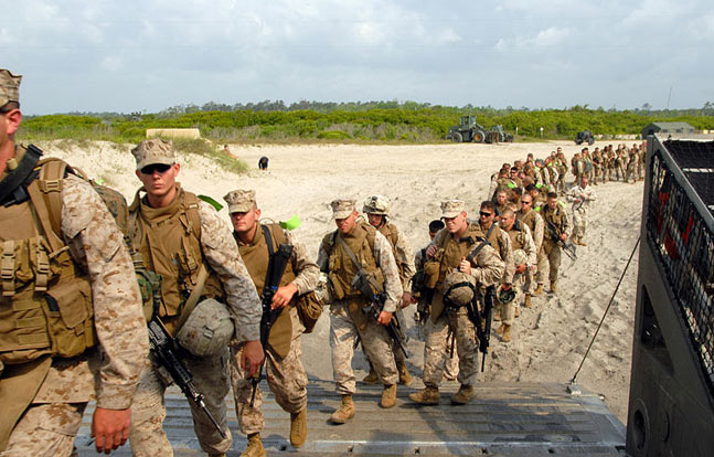 Marines stationed at Camp Lejeune