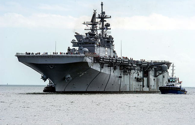 Huntington Ingalls delivered its new amphibious assault ship, USS America, to the Navy.