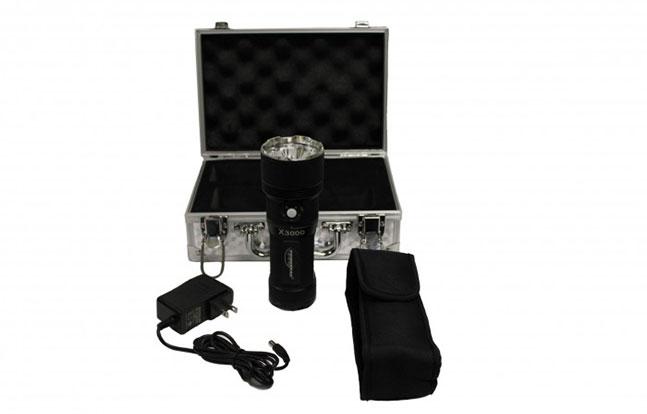 PowerTac X3000 3000 Lumen Rechargeable LED Flashlight