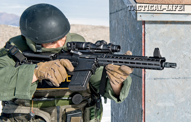 At the range, the author transitions to his Dueck Defense RTS iron sights. The MK212 gives you an entry-ready package that can also reach out to 500 yards and beyond.