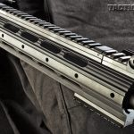 Ruger equips the SR-762 with its Lightweight Adaptable handguard, a smooth, vented forend featuring a full-length Picatinny top rail.