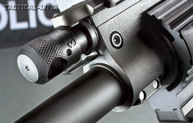 The Ruger SR-762's four-position gas block allows you to tune the rifle for the ammunition you're using, fouling or suppressor use.