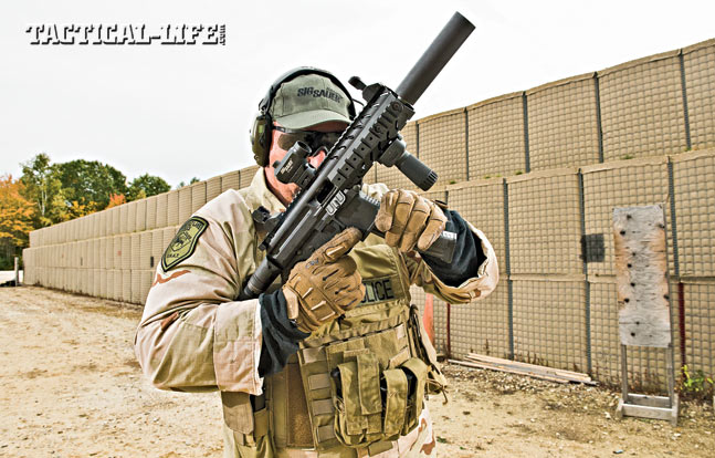 The MPX's controls closely mimic those of a traditional AR, meaning reloads will be second nature for anyone with experience using a typical AR-platform rifle. Reloading and getting back on target was smooth, simple and lightning fast.