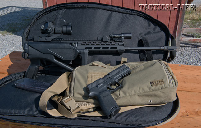Sig Sauer SIG556xi Rifle with Sig p320 pistol.