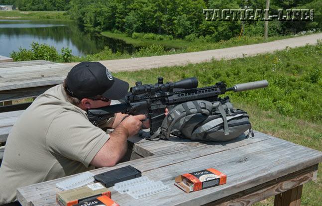 Sig Sauer SIG716 Precision 7.62mm rifle testing at 800 yards