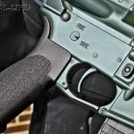 Wilson equips the lower receiver with an Ergo pistol grip. The angle of the grip makes the rifle more ergonomic and easier to index.