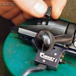 """SAFETY CHECK: Reassemble the rifle, including installing the bolt, and check the function of the trigger and the safety. Make sure the safety will go on and that it is working in both the """"on"""" and center positions. Once in a while the safety will not work, which requires the bolt be disassembled and a bit of clearance be cut with a file. Timney can provide instructions on how to do this in the unlikely event it is necessary. Check to make sure the trigger is releasing properly. The trigger safety should also be checked by cocking the gun and, with the safety off, thumping the butt hard on the floor to make sure the trigger will not jar enough to release. This new trigger breaks cleanly at 1.5 pounds, which is excellent for precision long-range shooting."""
