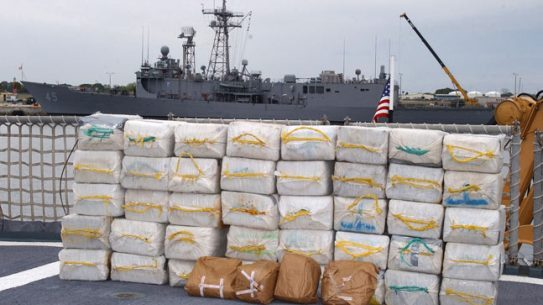 The Coast Guard wants additional ships to help make drug busts like the one seen in this picture. The U.S. Coast Guard Cutter Northland (WMEC 904), from Portsmouth, Va., seized over 2,400 pounds of cocaine and four bales of marijuana off the coast of Columbia March 10, 2007.