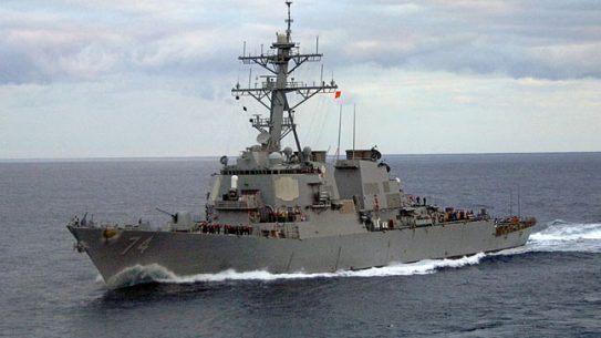 The USS McFaul (pictured here) will replace the USS Gettysburg at Fleet Week New York.