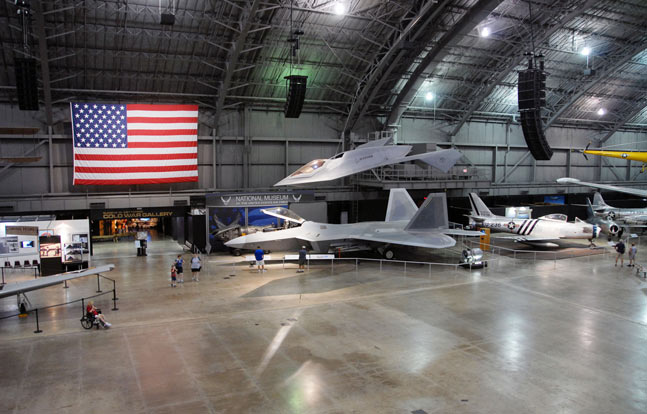 Lockheed Martin F-22A Raptor (bottom) and Boeing Bird of Prey at the National Museum of the United States Air Force. (U.S. Air Force photo)