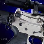 The upper and lower receivers feature smooth angles and lines, including around the forward assist, showing Black Rain's attention to detail.
