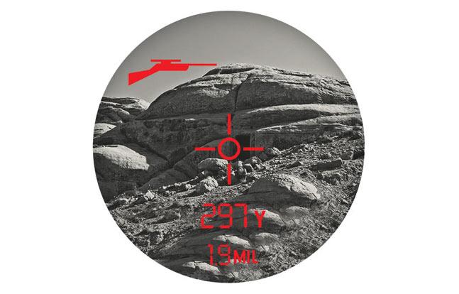 The view through Bushnell's brand new Elite 1-Mile ARC laser rangefinder