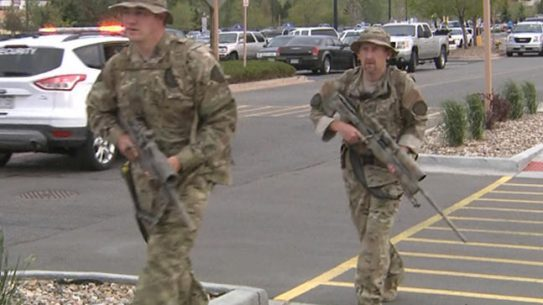 Colorado police held an active shooter exercise at the Flatiron Crossing Shopping Center in Broomfield (Photo by: CBS)