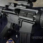 In keeping with military specifications, the Dragon has a forward assist, a shell deflector, a dust cover and a fence around the mag release.