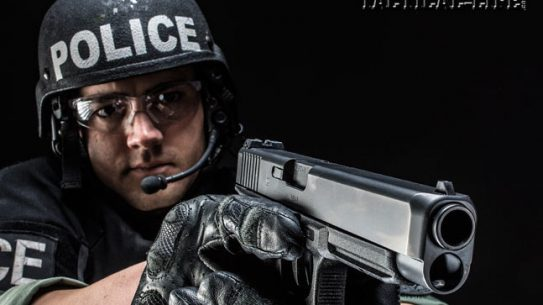 Glock's new G41 Gen4 offers a longer, slimmer slide, officer-friendly ergonomics, a 13+1 capacity of .45 ACP and Glock's duty-ready reliability.