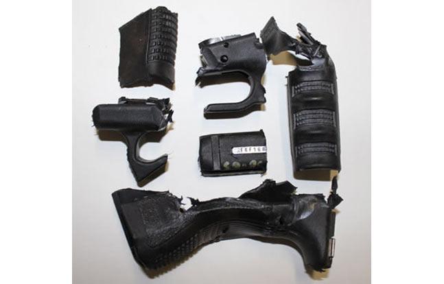 Pulverized Glock