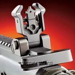 The durable Diamondhead rear sight locks into position quickly when needed, features dual apertures and is fully adjustable for windage.