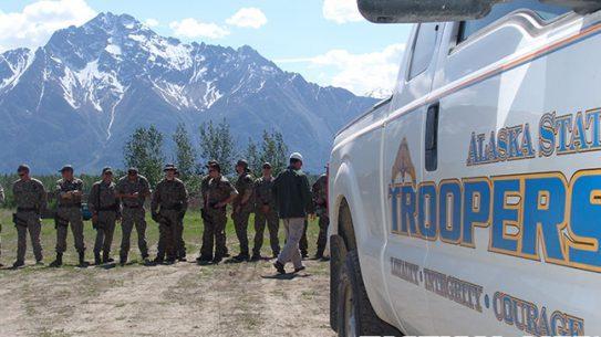 Alaska State Troopers truck mountain