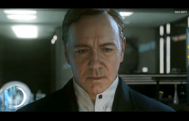 """The trailer for """"Call of Duty: Advanced Warfare"""" features Kevin Spacey as the head of a private military company waging war on the United States."""