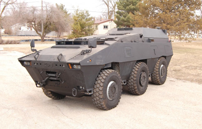 GPV Marshall 6x6x6 Armor Plated Tactical Swat Vehicle, which will be up for auction