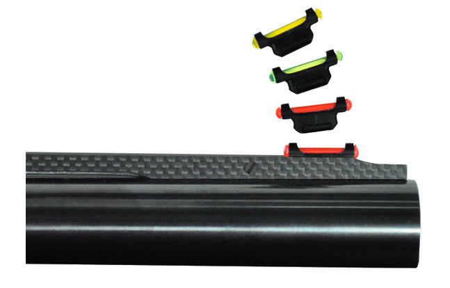 Easy to change high-visibility fiber optic sight system offers the option of three colors (red, green, yellow) and require no tools to switch.