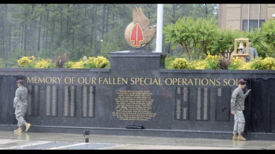 US Army Special Operations Command Honored Fallen Soldiers at Fort Bragg