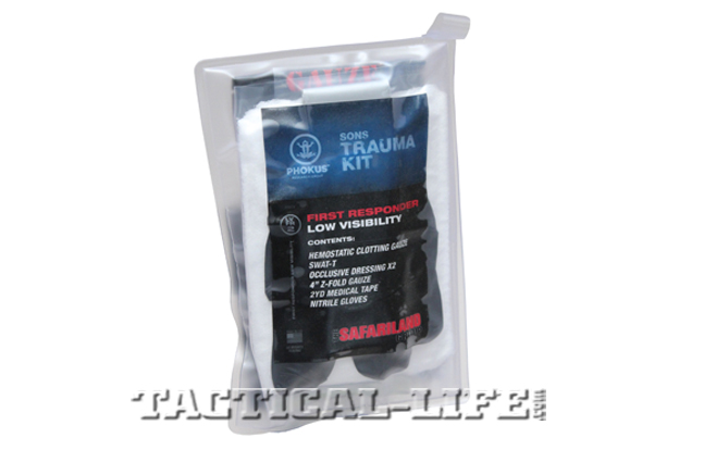 Sons Trauma Kit is compact, light and quick to access.
