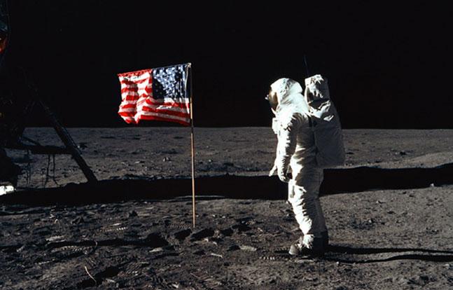 West Point Buzz Aldrin Flag