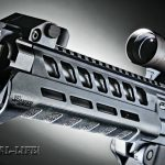 The standard SIG556xi handguard is made of polymer, has several cooling vents and can accept Magpul MOE accessory rails.