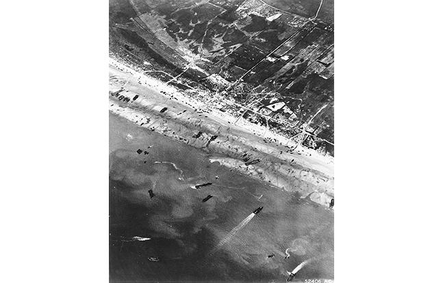 D-Day beach traffic